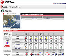 JAL Weather Information