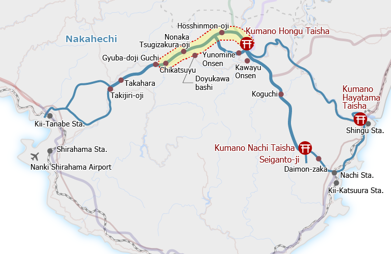 Kumano Kodo, Chikatsuyu-oji to Kumano Hongu Taisha
