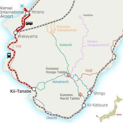 Kansai AP to Tanabe