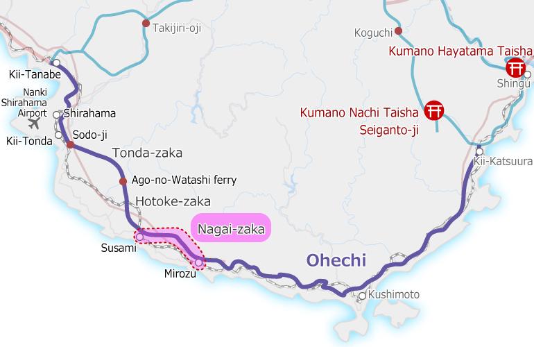 kumanokodo_ohechi_map Nagai-zaka
