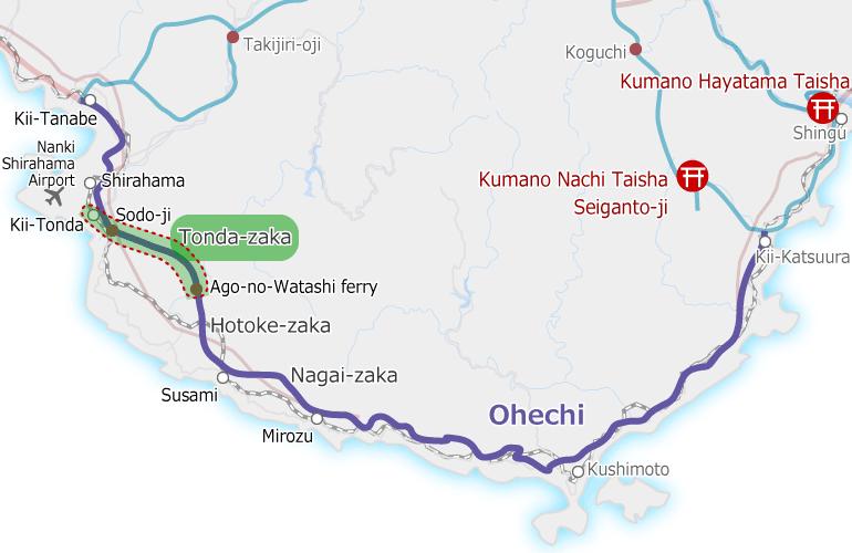 kumanokodo_ohechi_map Tonda-zaka