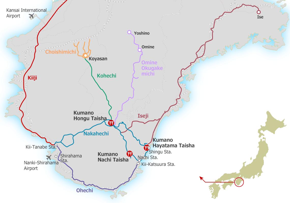 Kumano-kodo Map