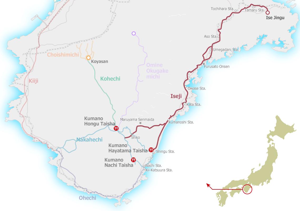 Kumano Kodo Iseji Map