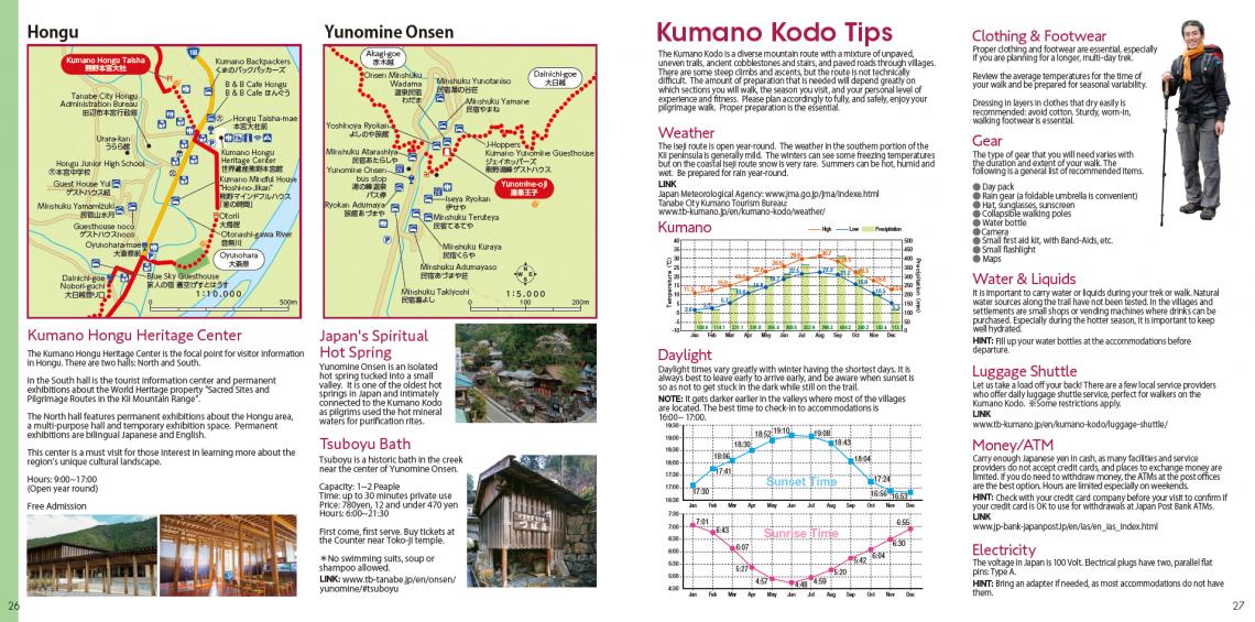 Kumano Kodo pilgrimage route Hongu and Yunomine Onsen