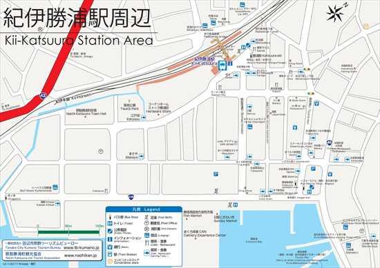 JR紀伊勝浦駅エリアマップ