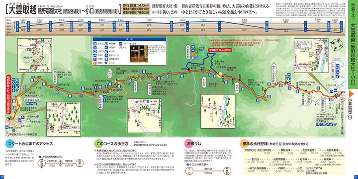熊野古道中辺路 大雲取越 ウォークマップ画像