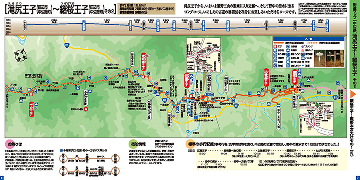 熊野古道中辺路 滝尻王子~継桜王子2 ウォークマップ画像