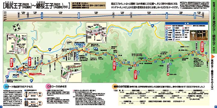 滝尻王子~継桜王子のウォークマップ画像