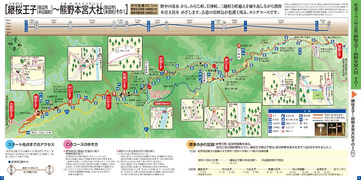 継桜王子~熊野本宮大社 ウォークマップ画像1