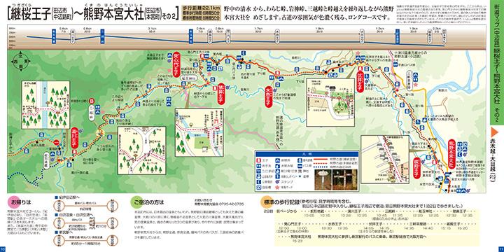 継桜王子~熊野本宮大社 ウォークマップ画像2
