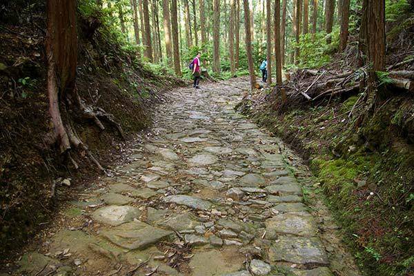 熊野古道中辺路 祓殿王子手前の石畳